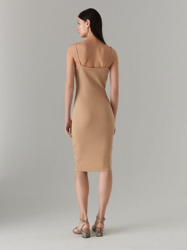 LADIES` DRESS - ivory - VV972-02X - Mohito - 4