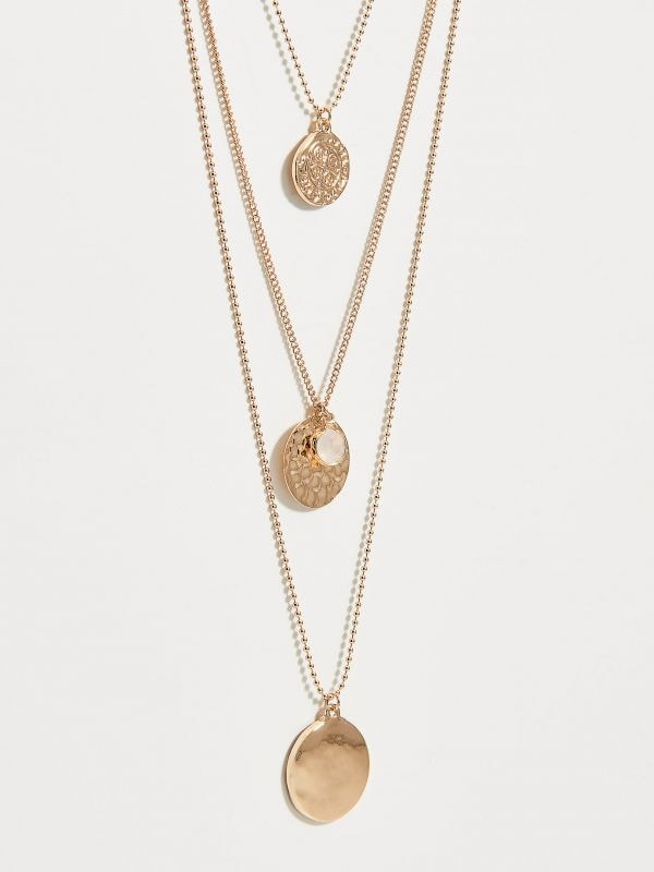 Layered necklace with pendants - golden - VX105-GLD - Mohito - 3