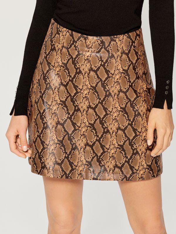 Snake print skirt  - multicolor - VY279-MLC - Mohito - 4