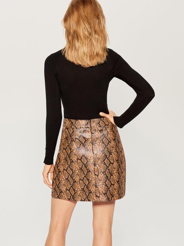 Snake print skirt  - multicolor - VY279-MLC - Mohito - 5