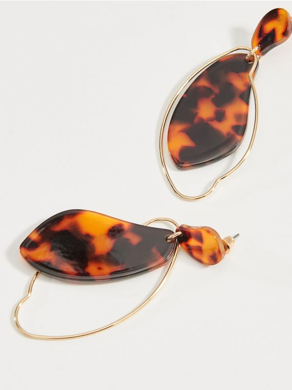 Patterned earrings - brown - VY355-88X - Mohito - 3