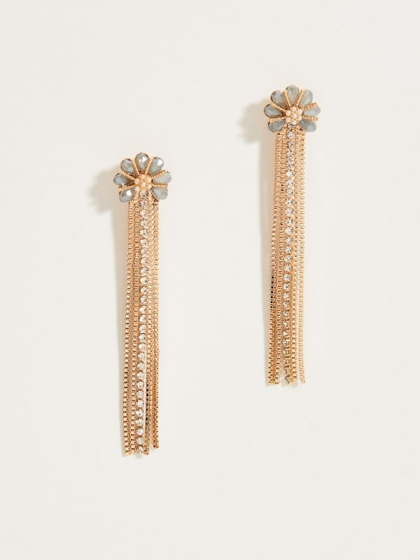 Drop chain earrings - multicolor - VY361-MLC - Mohito - 2