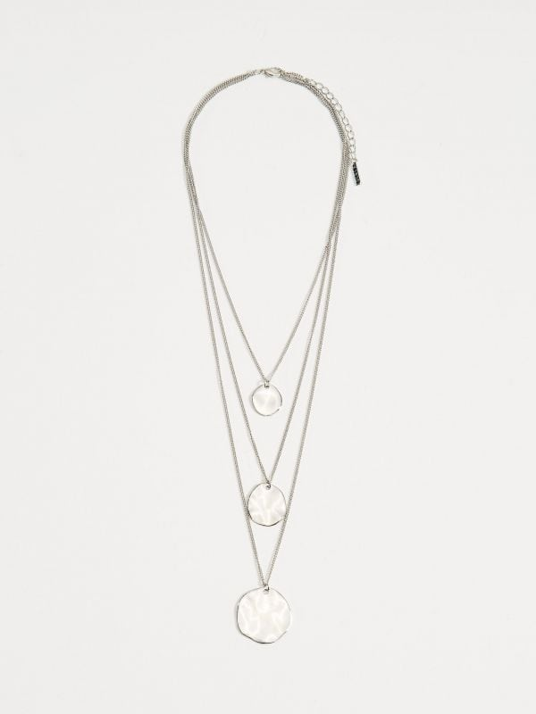 Layered necklace with pendants - silver - VY367-SLV - Mohito - 1