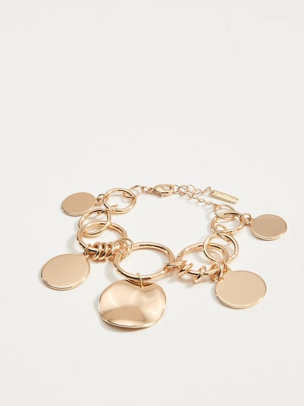 Bracelet with pendants - golden - VY369-GLD - Mohito - 1