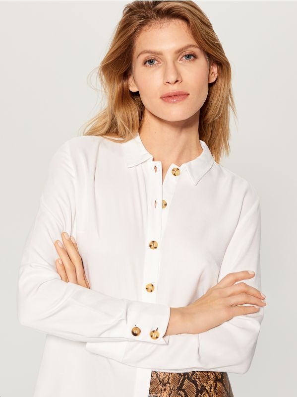 Classic shirt - white - VY493-00X - Mohito - 2