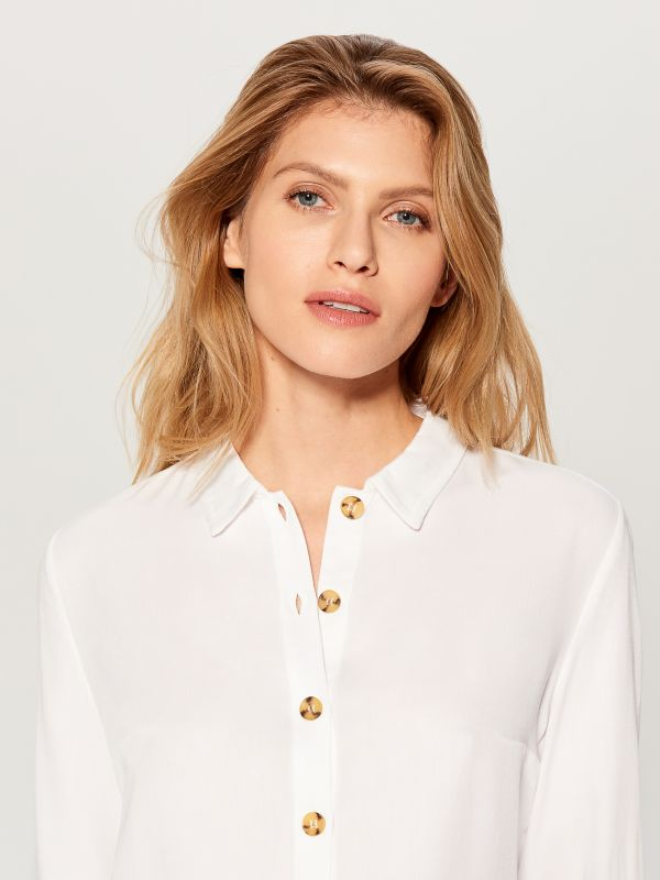 Classic shirt - white - VY493-00X - Mohito - 4