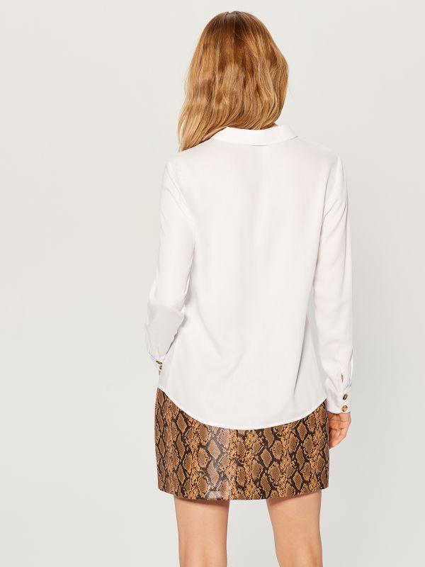 Classic shirt - white - VY493-00X - Mohito - 5