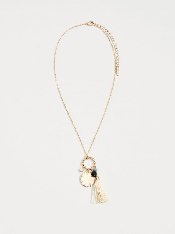 Long necklace with charms - golden - VY755-GLD - Mohito - 2
