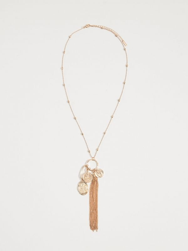 Long necklace with charms - golden - VY756-GLD - Mohito - 1