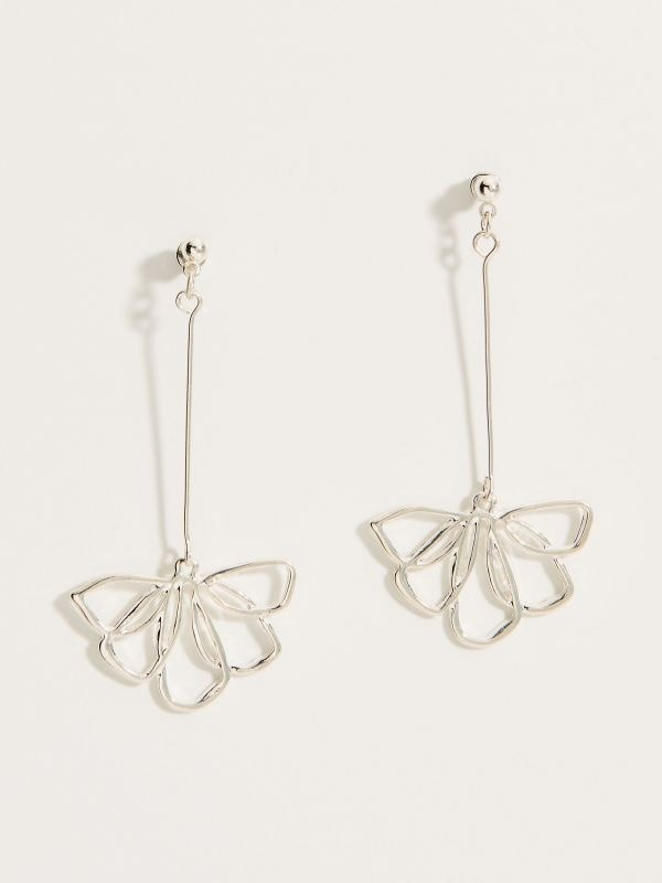 Drop earrings - silver - VY763-SLV - Mohito - 2