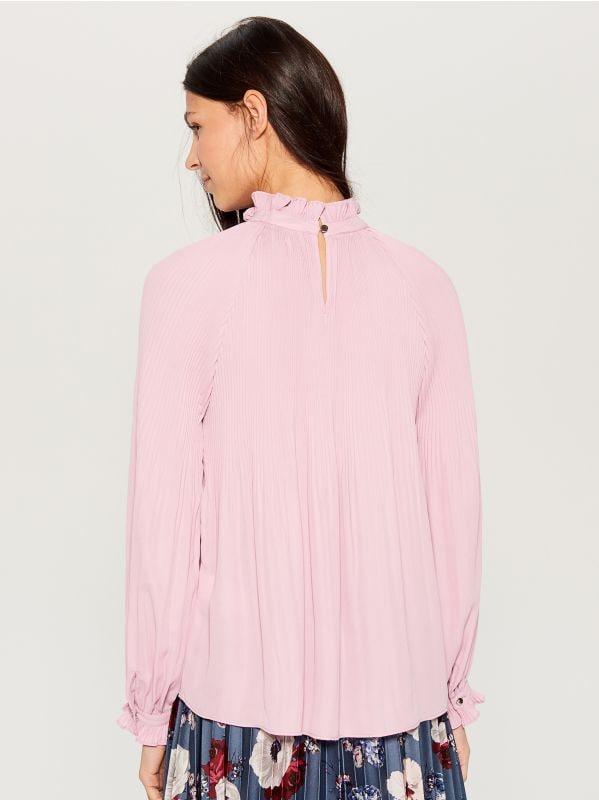 High neck blouse - pink - VZ669-40X - Mohito - 4