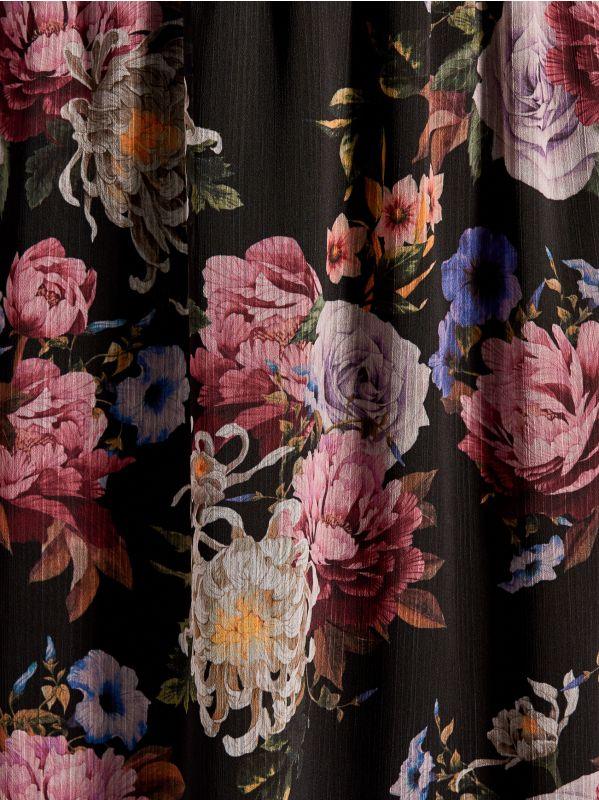 Chiffon floral dress - black - VZ973-99P - Mohito - 5