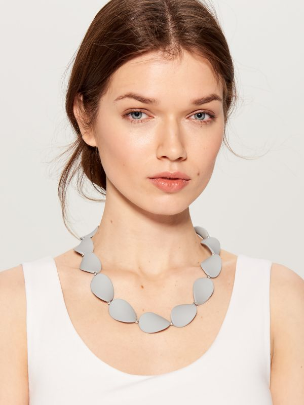 Short necklace - grey - WA583-90X - Mohito - 1
