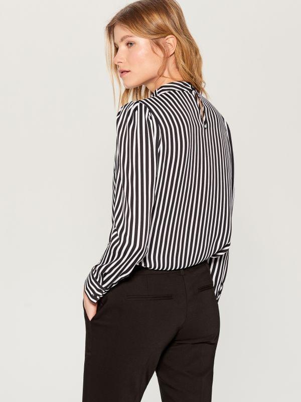 Striped shirt - black - WA845-99P - Mohito - 5