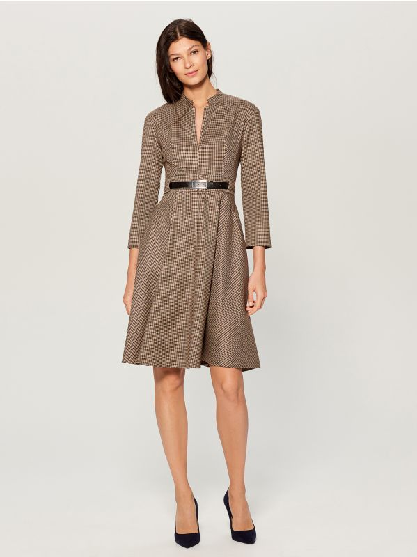 Dress with belt - beige - WA908-08P - Mohito - 1