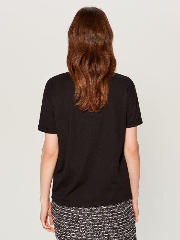 Top with print - black - WA959-99X - Mohito - 3