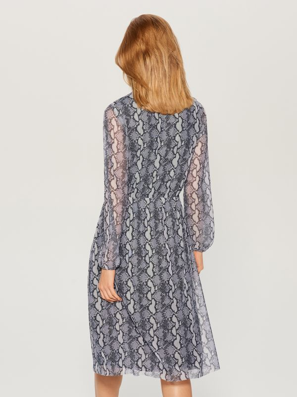 Snake print midi dress  - grey - WB307-90P - Mohito - 5