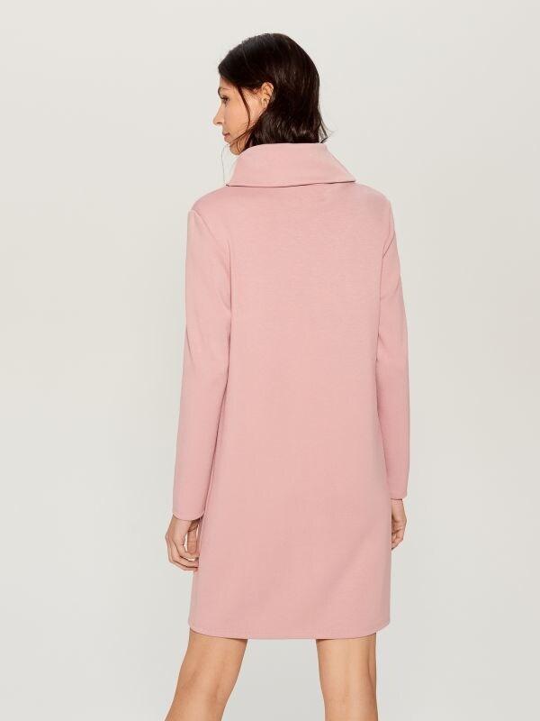 Wide turtleneck dress  - pink - WB309-03X - Mohito - 5
