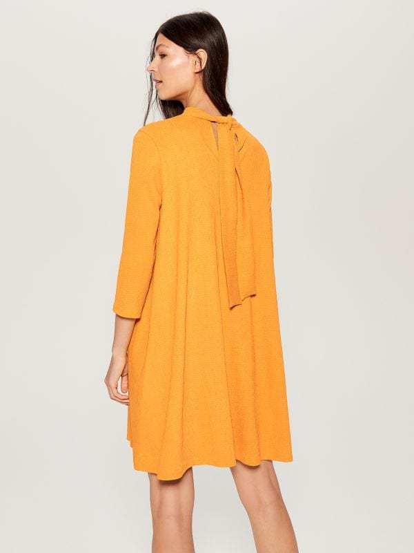 Dress with back tie - yellow - WE126-17X - Mohito - 3