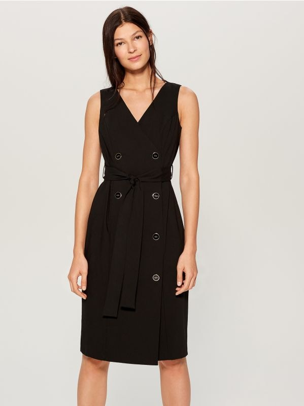 Double-breasted dress - black - WE427-99X - Mohito - 1