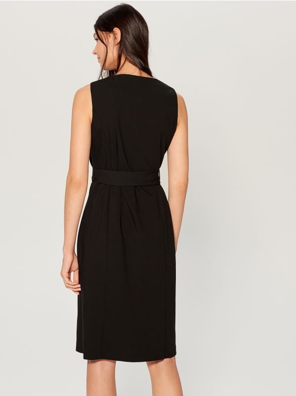 Double-breasted dress - black - WE427-99X - Mohito - 4