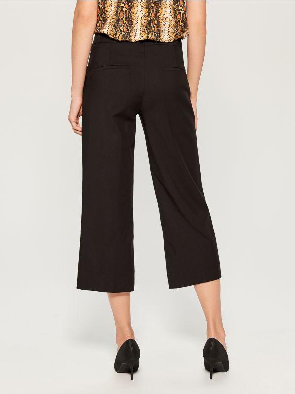 Culotte trousers - black - WF240-99X - Mohito - 4