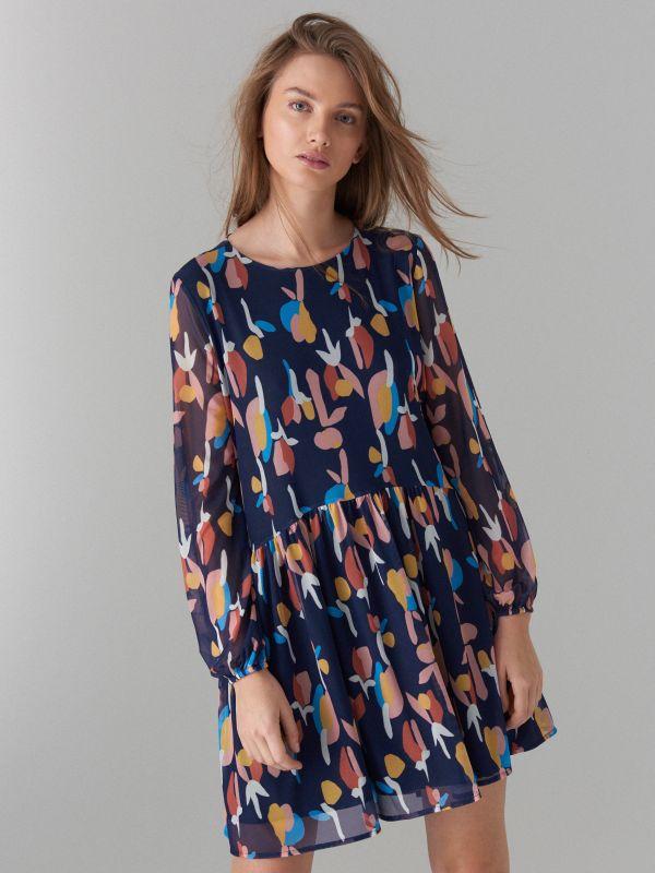 Art print dress - beige - WF482-48P - Mohito - 2