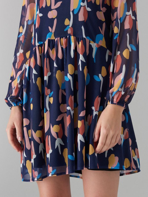 Art print dress - beige - WF482-48P - Mohito - 4