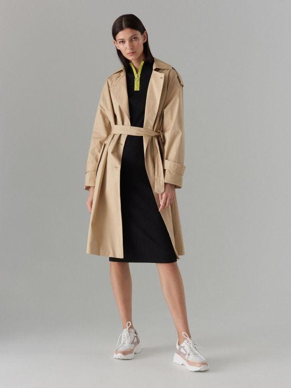 Fitted rib knit dress - black - WF504-99X - Mohito - 1