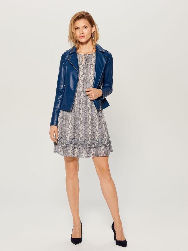 Snake print dress - grey - WG187-09P - Mohito - 2