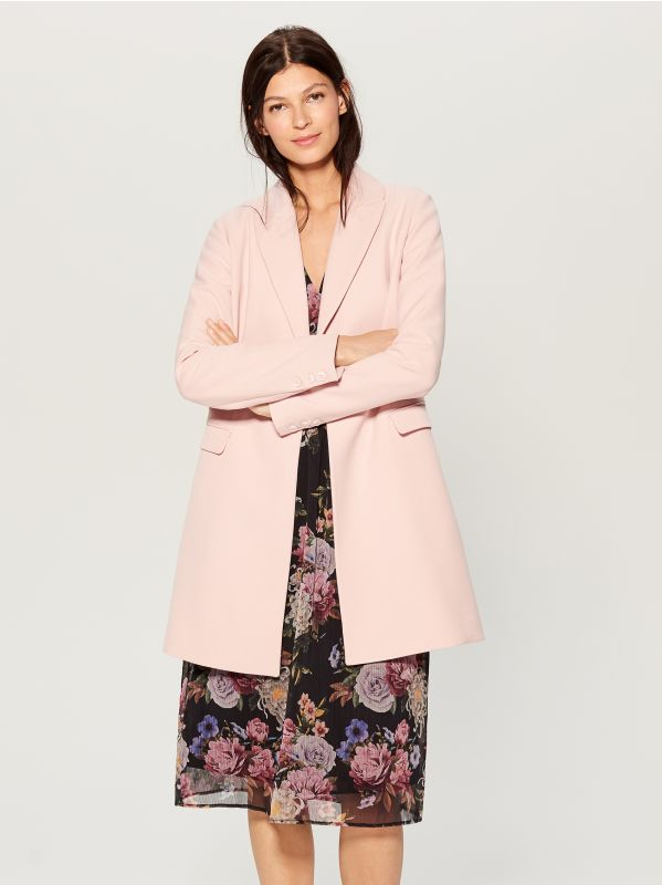 Single-breasted coat - pink - WH037-03X - Mohito - 4