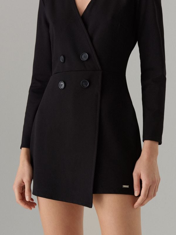 Long sleeve blazer playsuit - black - WL175-99X - Mohito - 2