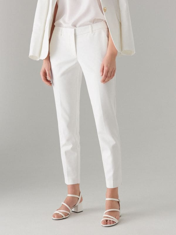 Pencil trousers - white - WT864-00X - Mohito - 2