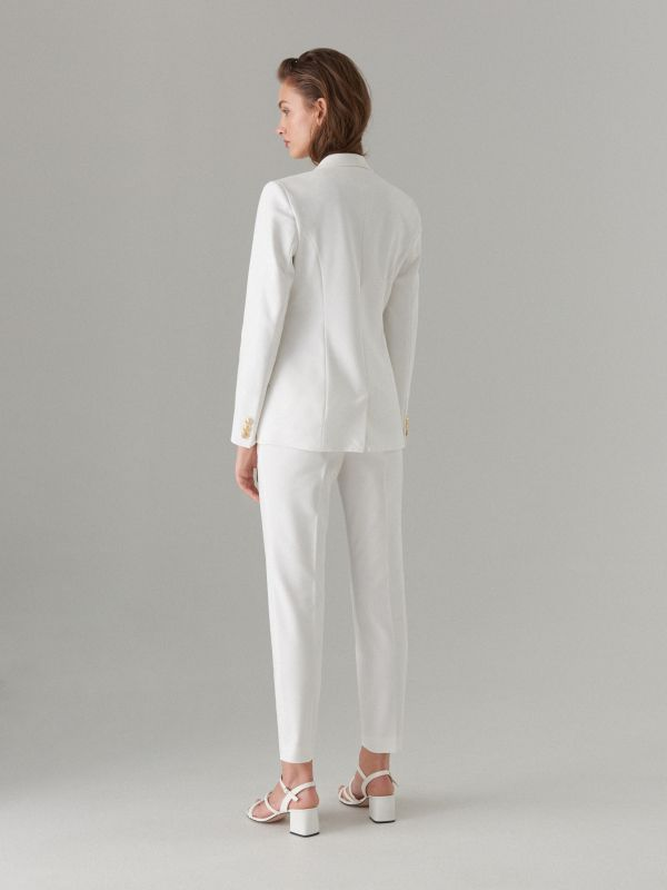 Pencil trousers - white - WT864-00X - Mohito - 5