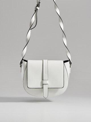 Long strap saddle bag