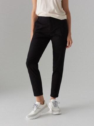 Cotton rich cigarette trousers
