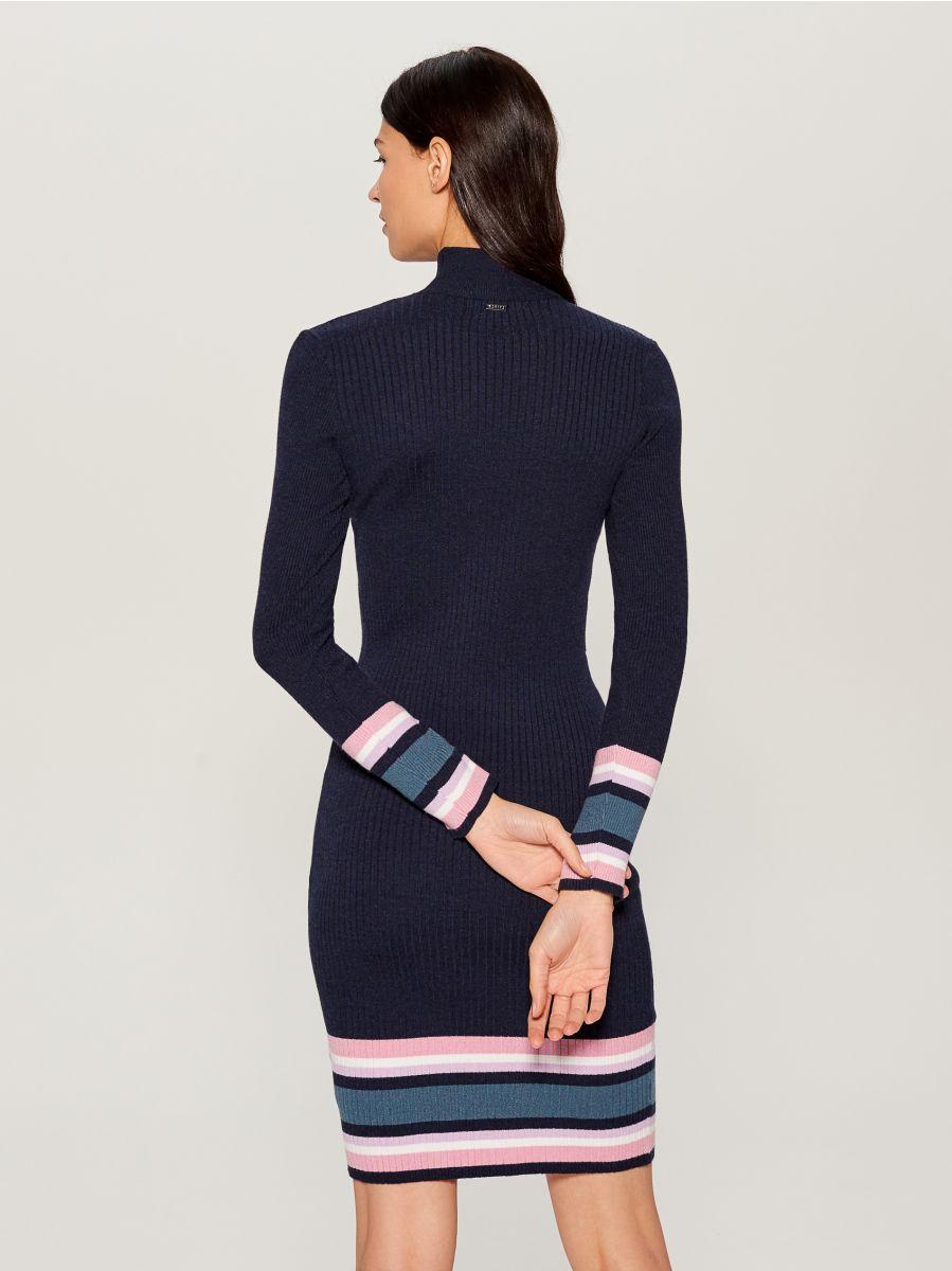 Облегающее трикотажное платье - Голубой - VL240-95X - Mohito - 5