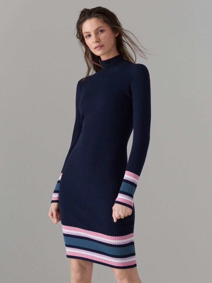 Облегающее трикотажное платье - Голубой - VL240-95X - Mohito - 1