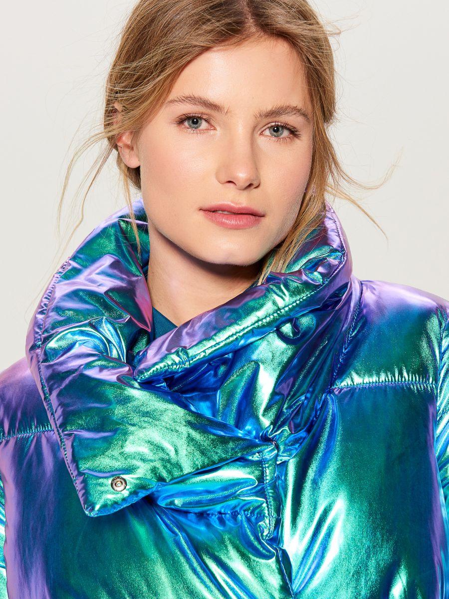 Стеганая куртка металлик - многоцветный - VQ977-MLC - Mohito - 3