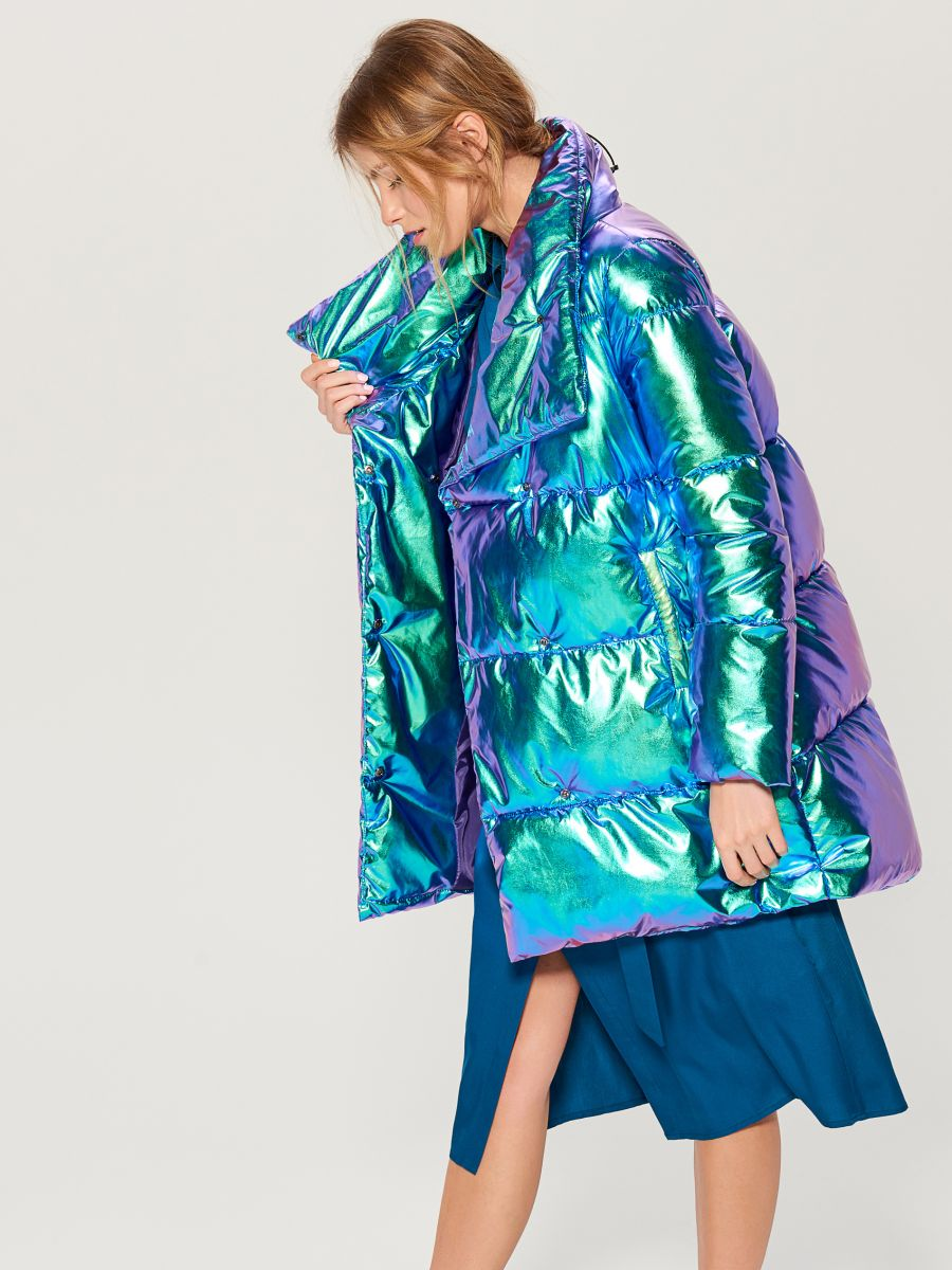 Стеганая куртка металлик - многоцветный - VQ977-MLC - Mohito - 4