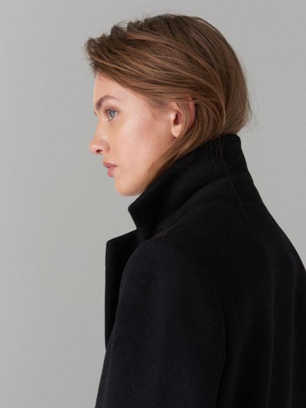 Пальто из материала с добавлением шерсти - Черный - VA421-99X - Mohito - 3