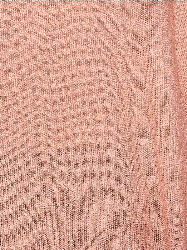 Блестящий джемпер с асимметричным низом - розовый - VQ744-03L - Mohito - 4