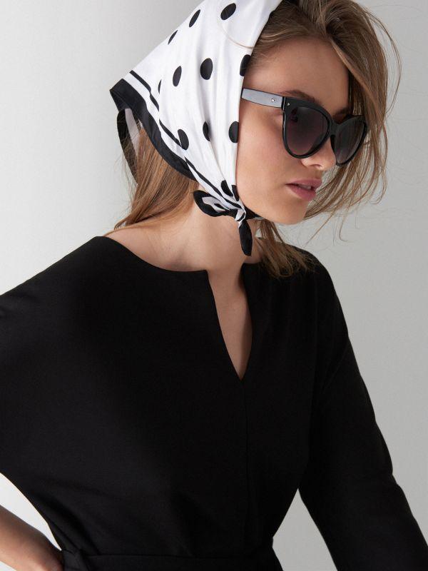Платье-кимоно - Черный - WB308-99X - Mohito - 2