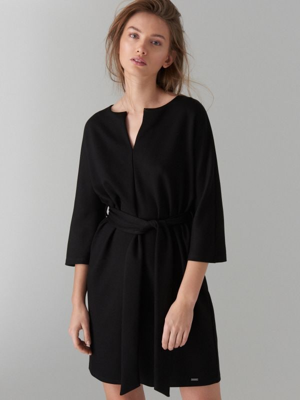 Платье-кимоно - черный - WB308-99X - Mohito - 3