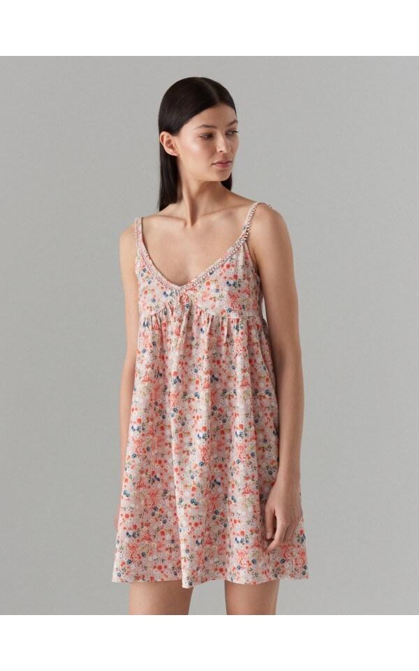 Платье на бретелях в стиле беби-долл, MOHITO, XB132-08P